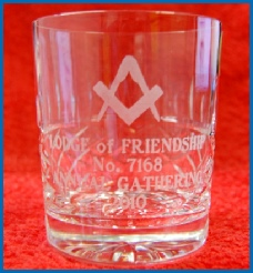 Lodge of Friendship Gathering Glass
